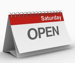 "<a name=""saturdays""></a>Open on Saturdays"